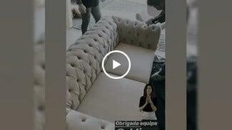 Vídeo da limpeza e higienização de sofá